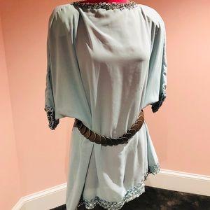 Mint sequin vintage 60s tunic